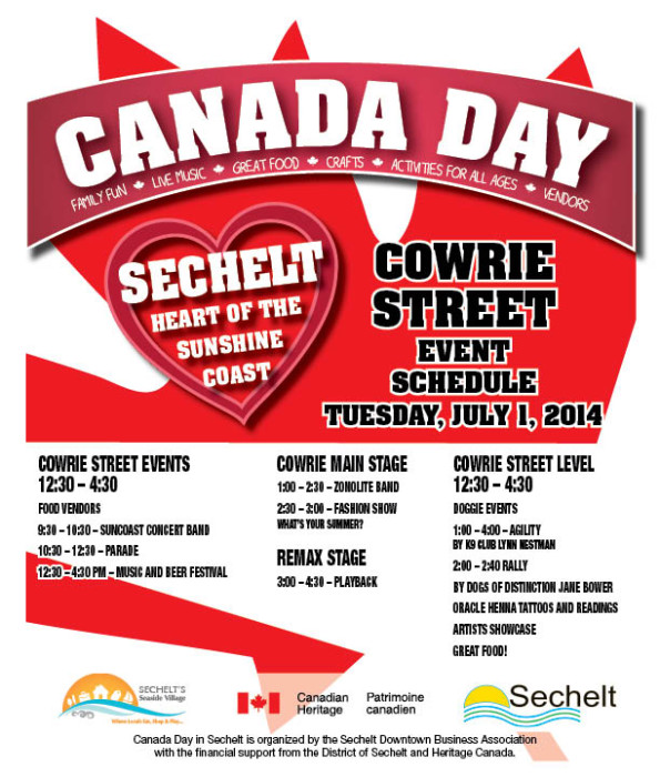 Canada Day Cowrie St. Events Sched