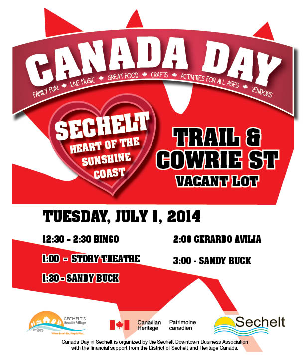 Canada Day Trail and Cowrie Events Poster