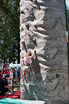 Climbing Wall at Hackett Park