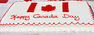 Happy Canada Day Cake