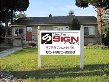 Photograph of Sechelt Sign and Design Printing Specialists